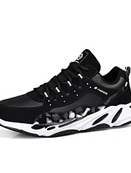 cheap -Men's Comfort Shoes PU Fall & Winter Sporty Athletic Shoes Running Shoes Non-slipping Color Block Black and White / Black / Red / Black / Green