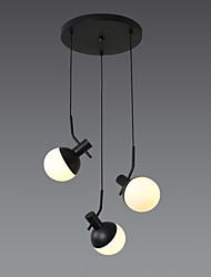 cheap -3 Lights Chandelier Black Painted Metal for Dining Room Resturant 220-240V