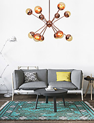 cheap -12 Bulbs 90 cm Chandelier Metal Glass Industrial Electroplated Country Nordic Style 110-120V 220-240V