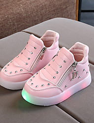 cheap -Boys' / Girls' Sneakers LED / Comfort / Halloween Synthetics Little Kids(4-7ys) Luminous Red / Pink / Silver Winter
