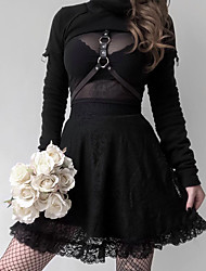 cheap -Plague Doctor Retro Vintage Medieval Renaissance Blouse / Shirt Masquerade Women's Cotton Costume Black Vintage Cosplay Party Halloween Long Sleeve