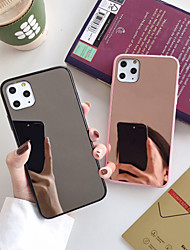 cheap -Case For Apple iPhone 11 / iPhone 11 Pro / iPhone 11 Pro Max Dustproof / Plating / Mirror Back Cover Solid Colored TPU / Acrylic