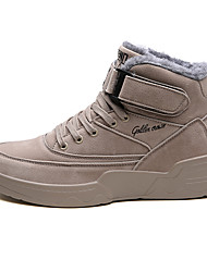cheap -Men's Combat Boots PU Winter Classic Boots Black / Brown / Gray