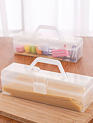 Недорогие -1шт Коробки для хранения Пластик Аксессуар для хранения Для приготовления пищи Посуда