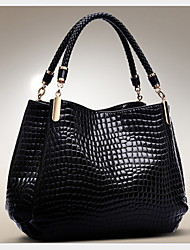 cheap -Women's PU Top Handle Bag Crocodile Black / Royal Blue