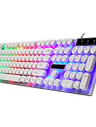Недорогие -LITBest G21 USB Проводной Игровые клавиатуры Управление клавиатурой Игры Тонкие Мульти цвет подсветки 104 pcs Ключи