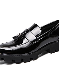 cheap -Men's Formal Shoes Patent Leather Spring & Summer / Fall & Winter Casual / British Loafers & Slip-Ons Non-slipping Black / Blue