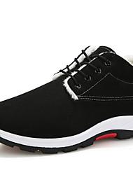 cheap -Men's Comfort Shoes Cowhide Winter Sneakers Black / Blue / Khaki