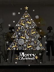 Недорогие -новый с рождеством христовым стикер стены diy наклейки на окна рождественские украшения дома ноэль украшения новый год