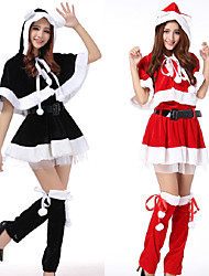 cheap -Santa Claus Dress Women's Adults' Costume Party Christmas Christmas Velvet Dress