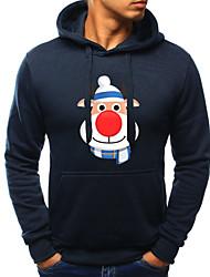 cheap -Men's Casual / Christmas Hoodie - Print Black US34 / UK34 / EU42