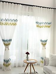 cheap -Modern Sheer Curtains Shades Two Panels Sheer