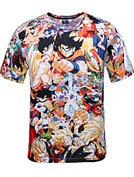 cheap -Inspired by Dragon Ball Son Goku Anime Cosplay Costumes Japanese Cosplay T-shirt Polka Dot / Print Short Sleeve T-shirt For Men's