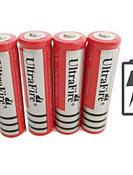cheap -UltraFire BRC Li-ion 18650 Battery 4200 mAh 4pcs Rechargeable for LED Flashlight Bike Light Headlamps Hunting Climbing Camping / Hiking / Caving