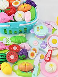 Недорогие -Игрушка кухонные наборы Игрушечная еда Ролевые игры Овощи и фрукты ПВХ Детские Мальчики Девочки Игрушки Подарок 16-69 pcs
