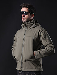 cheap -Men's Hunting Jacket Outdoor Thermal / Warm Windproof Wearproof Comfortable Spring Fall Winter Terylene Army Green