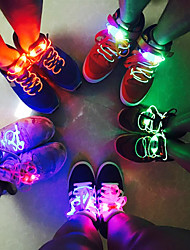 cheap -Led Sport Shoe Laces Glow Shoe Strings Round Flash Light Shoelaces Luminous No Tie Lazy Shoe Laces