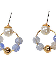 cheap -Women's Earrings Geometrical Ball Artistic Asian Sweet Modern Cute Earrings Jewelry Light Blue For Party Gift Daily Holiday Festival 1 Pair