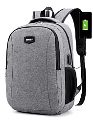 cheap -Waterproof Polyester Zipper Commuter Backpack Solid Color School Black / Blue / Gray