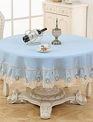 cheap -Casual polyester fibre Round Table Cloth Table Decorations 180*180 pcs
