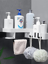 cheap -Hooks Waterproof / Adjustable / Self-adhesive Modern Contemporary / Fashion ABS+PC 1pc Toothbrush & Accessories / Sponges & Scrubbers / Bathroom Decoration