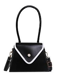 cheap -Women's PU Top Handle Bag Solid Color Black / Brown / Dark Brown