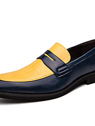 cheap -Men's Formal Shoes Synthetics Spring & Summer / Fall & Winter Casual / British Loafers & Slip-Ons Non-slipping Color Block Yellow / Red / Blue / Office & Career / Dress Shoes / Moccasin