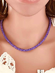 cheap -Women's Purple Necklace Bead Necklace Classic Weave Classic Vintage Trendy Fashion Aluminum Light Blue Purple 49 cm Necklace Jewelry 1pc For Daily School Street Holiday Festival