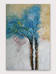 cheap -Oil Painting Hand Painted Abstract Still Life Modern Stretched Canvas With Stretched Frame