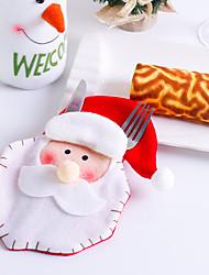 abordables -noël décoration maison coutellerie sac fourchette couteau vaisselle vaisselle père noël
