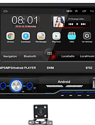 cheap -SWM 9702+4LED Camera 7 inch 1 DIN Android 8.1 Car MP5 Player Car Mulitimedia Player Touch Screen GPS Built-in Bluetooth Support RCA / HDMI / FM2 MPEG / MPG / WMV MP3 / WMA / WAV JPEG for universal