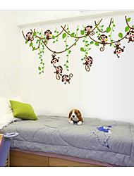 cheap -Naughty little monkey climbing tree vine children's room kindergarten cartoon decoration living room TV sofa background AY7247