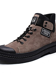 cheap -Men's Suede Shoes Suede Fall & Winter Boots Booties / Ankle Boots Black / Brown / Gray
