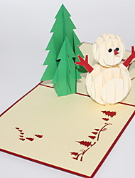 cheap -1 pc 3D Pop Up Christmas Gift Card
