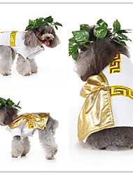 cheap -Dog Cat Dress Tuxedo Vest Euramerican Christmas Dog Clothes Yellow Costume Polyester Canvas Mixed Material S M L XL