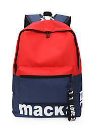 cheap -Large Capacity Oxford Cloth Zipper Commuter Backpack Color Block Outdoor Yellow / Blue / Red