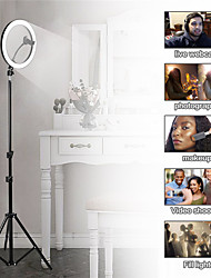 Недорогие -Фотография светодиодный автоспуск кольцо света 16см металлическая затемняемая фотография / мобильный телефон кольцо света с 110 / 160см штатив для макияжа видео студии