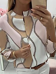 cheap -Women's Daily Blouse - Geometric Blushing Pink