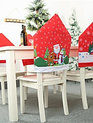 cheap -Christmas Decoration Chair Covers Dining Seat Santa Claus Home Party Decor Cartoon Old Man Snowman Party Stool Set Decor