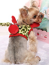 cheap -Dog Costume Leash Winter Dog Clothes Green Costume Polyster Print Deer Cosplay Christmas XS XL