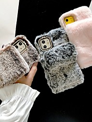 cheap -Case For Apple iPhone 11 / iPhone 11 Pro / iPhone 11 Pro Max Ring Holder / DIY Back Cover Plush Textile