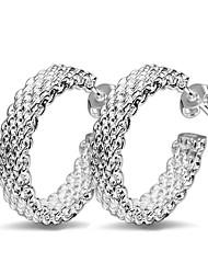 cheap -Elegant women's Earrings Earrings 925 silver jewelry earrings size 2.4 * 2.4cm gift