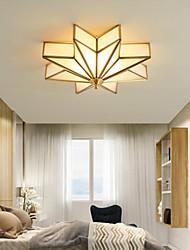 cheap -3-Light 40 cm Flush Mount Lights Metal Glass Antique Brass LED Modern 110-120V 220-240V / E26 / E27