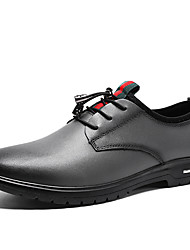 cheap -Men's Formal Shoes Cowhide Spring / Fall Casual / British Oxfords Non-slipping Black / Gray