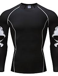 cheap -Men's Daily Basic T-shirt - Skull Black