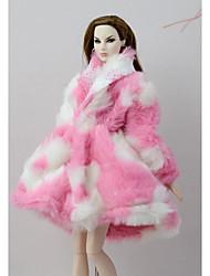 abordables -Tenue de poupée Manteau de poupée Manteaux / Vestes Pour Barbie Rose Etoffe non tissé Tissu de coton Polyester Manteau Pour Fille de Jouets DIY