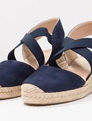 cheap -Women's Sandals Flat Heel Round Toe Canvas Spring & Summer Blue