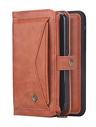 cheap -Genuine Leather Case For iPhone 11 Pro Max XR XS Max 8 Plus 7 Plus 6 Plus Multifunction Tri-fold Wallet Case POLA BrandShockproof Solid Colored Covers
