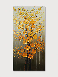 cheap -Oil Painting Hand Painted - Floral / Botanical Modern Stretched Canvas