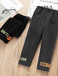 cheap -Kids Girls' Basic Print Pants Black